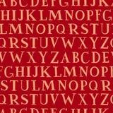 seamless vektorvägg för alfabet Arkivbilder