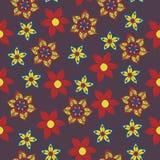 seamless vektorwallpaper för blom- modell Fotografering för Bildbyråer