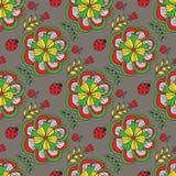 seamless vektorwallpaper för blom- modell Royaltyfri Bild