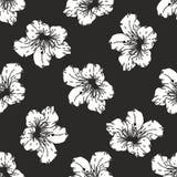 seamless vektorwallpaper för blom- modell Arkivbilder