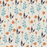 seamless vektorwallpaper för blom- modell Royaltyfria Bilder