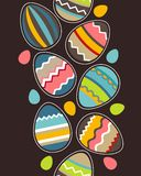 Seamless vertical easter pattern with eggs Royalty Free Stock Photo