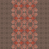 Seamless vertical lace pattern with roses. Vector monochrome background. Royalty Free Stock Photography