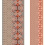 Seamless vertical lace pattern with roses. Vector set of 2. Royalty Free Stock Photography