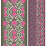 Seamless vertical lace pattern with roses. Vector set of 2. Stripes with traditional classical ornament and the lace.   Beautiful  fashion  print. Use for Royalty Free Stock Image