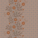 Seamless vertical lace pattern. Vector background. Stock Photography