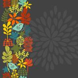 Seamless vertical pattern with bird in crown. Royalty Free Stock Images