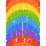 Seamless vertical pattern with rainbow Stock Photos