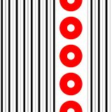 Seamless Vertical Stripe and Circle Pattern Stock Images