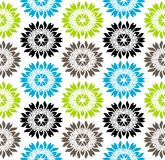 Seamless vibrant colored floral pattern Stock Images