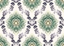 Seamless victorian damask pattern stock images