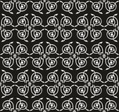 Seamless victorian floral black-and-white ornament Stock Photography