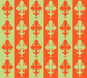 Seamless victorian flower background. Wallpaper. Vector Fleur de lys stock illustration