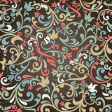 Seamless victorian pattern Royalty Free Stock Photo