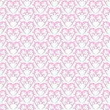 Seamless Victorian Pink Hearts Background Stock Images