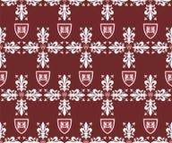 Seamless victorian royal texture with fleur-de-lis stock image