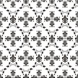 Seamless victorian royal texture with fleur-de-lis Royalty Free Stock Image