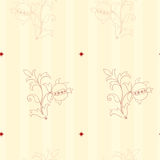 Seamless Victorian Style wallpaper background Stock Image