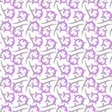 Seamless Victorian Swirls Background Stock Photo