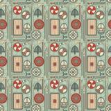 Seamless viking pattern 01 Stock Photography