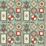 Seamless viking pattern 02 Royalty Free Stock Image