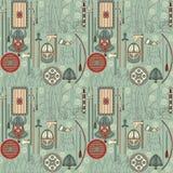 Seamless viking pattern 03 Royalty Free Stock Images