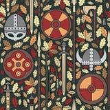 Seamless viking pattern 05 Stock Image