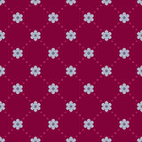 Seamless vinous pattern with blue flowers Royalty Free Stock Image