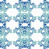 Seamless vintage background, baroque pattern Royalty Free Stock Images