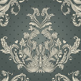 Seamless vintage background brown baroque pattern Stock Images