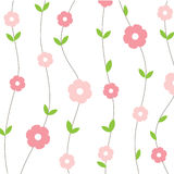 Seamless vintage background with  and  flowers Stock Images
