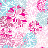 Seamless vintage background with and flowers vector illustration