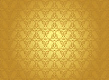 Seamless vintage background in gold Royalty Free Stock Image