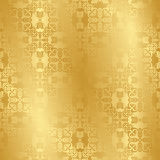 Seamless vintage background in gold Royalty Free Stock Images