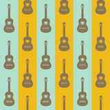 Seamless vintage background with guitars Royalty Free Stock Image