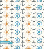 Seamless vintage background with maritime symbols Royalty Free Stock Photography