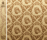 Seamless vintage background Pattern brown Royalty Free Stock Photography