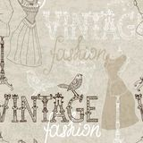 Seamless Vintage background with retro dummy Royalty Free Stock Photography