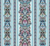Seamless vintage background. Royal renaissance striped wallpaper. Vector Stock Photos