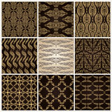 Seamless vintage background set wallpaper Royalty Free Stock Photos