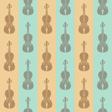 Seamless vintage background with violins Stock Photos