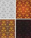Seamless vintage background wallpaper. 4 color variations Royalty Free Stock Images