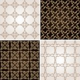 Seamless vintage background wallpaper set Royalty Free Stock Images