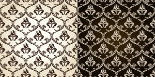 Seamless vintage backgrounds black brown baroque P Royalty Free Stock Photography