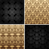 Seamless vintage backgrounds ornament decor Royalty Free Stock Photos