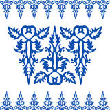 Seamless Vintage Baroque Blue Pattern Royalty Free Stock Photos