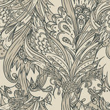 Seamless vintage baroque pattern Royalty Free Stock Photography