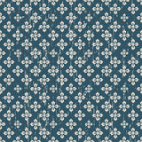 Seamless vintage big and small flower pattern background. Royalty Free Stock Photos