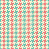 Seamless vintage blue beige and red classic fashion textile striped houndstooth pattern vector Royalty Free Stock Images