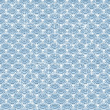 Seamless vintage blue Japanese style fish scale pattern background. Royalty Free Stock Images